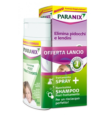 Paranix Linea Anti-Pediculosi Paranix Spray Pidocchi + Shampoo Post Trattamento