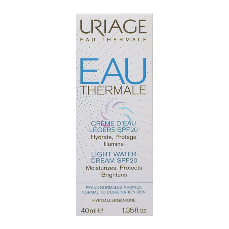 Uriage Linea Eau Thermale Crema Leggera all'Acqua SPF20 Nutriente 40 ml