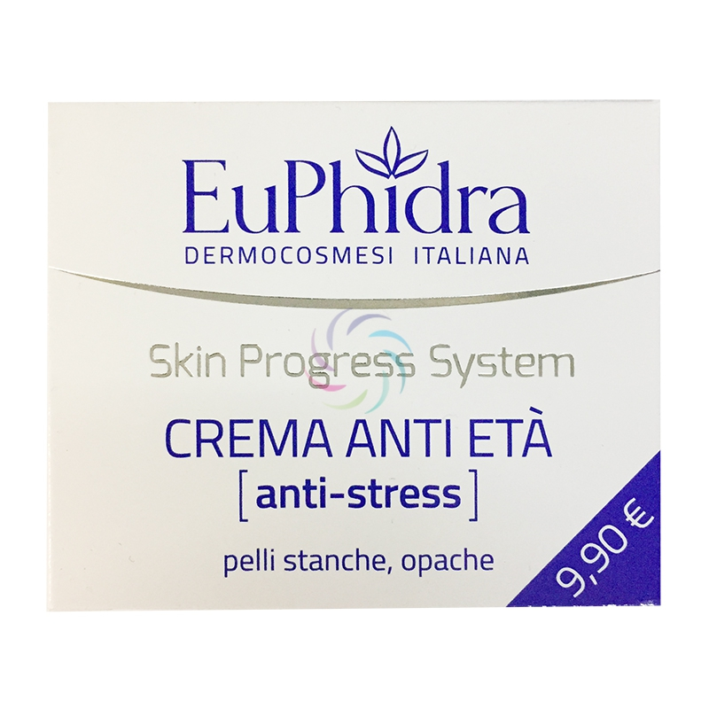 EuPhidra Linea Skin-Progress System Crema Anti-Età Anti-Stress Pelle Stanca 40ml
